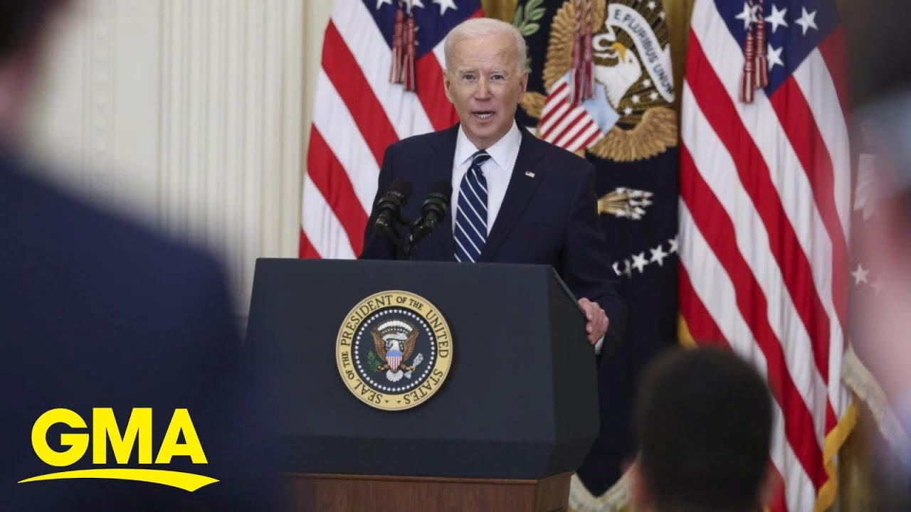 Biden faces thorough questioning in 1st news conference -- and ...