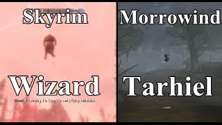 Skyrim Dragonborn DLC Easter Egg - Morrowind Reference -Tarhiel Jumping Wizard (HD)