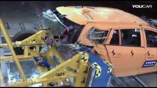 Volvo V60 Plug In Hybrid - Rear Crash Test (internal Volvo crash test)