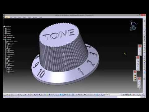 CATIA V5 - HOW TO CREATE 3D TEXT IN MODEL