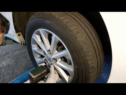 Toyota Camry замена тормозных колодок