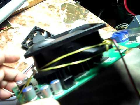 Приспособил кулер на видеокарту - Видео