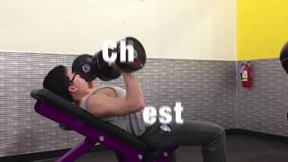 Planet Fitness Workout - Chest, Shoulder, Triceps, 315lbs Bench