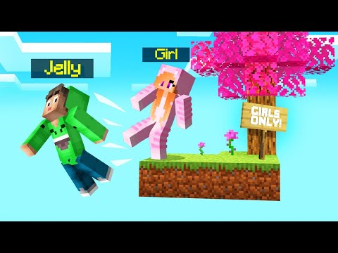 SKYBLOCK But ONLY GIRLS Are ALLOWED! (Minecraft)