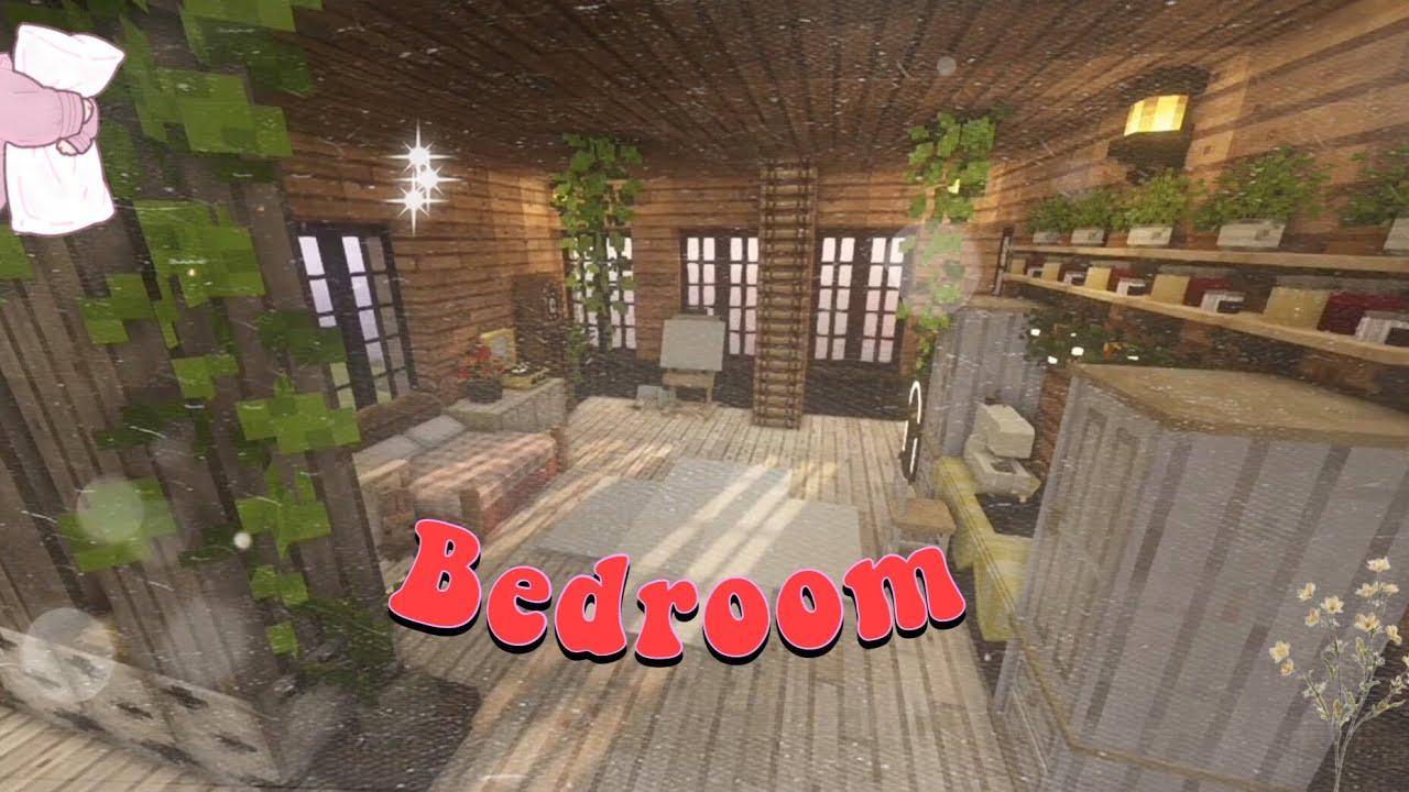 Making An Aesthetic Cozy Bedroom In Minecraft ~Study Area~Ocean
