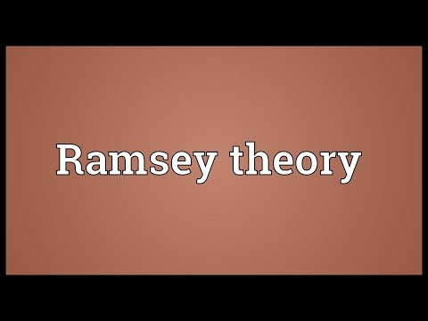 Ramsey theory Meaning