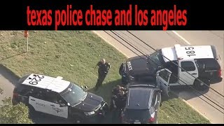 texas police chase and los angeles