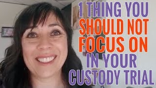 What You SHOULD NOT Be Focusing On At Your Child Custody Hearing