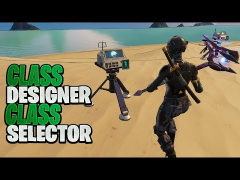 How To Use Class Designer & Class Selector In Fortnite Creative!