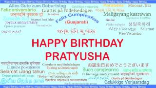 Pratyusha   Languages Idiomas - Happy Birthday