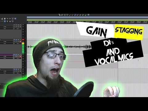 Tips and Tricks 20 - Gain Staging Vocal Mics and Di's for Recording