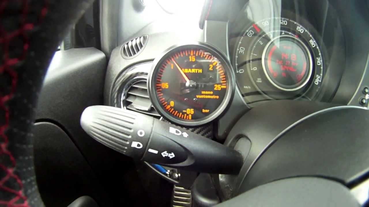 Fiat 500 Abarth - Boost Gauge replacement