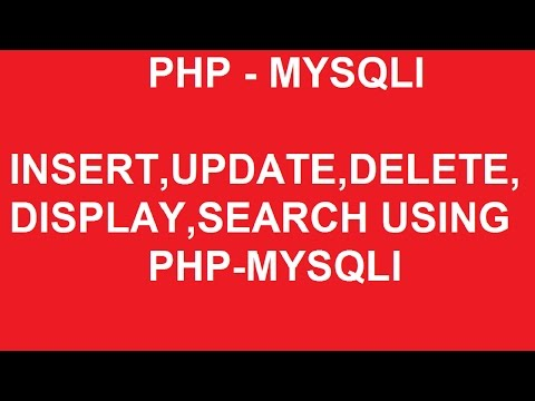 php mysqli insert update delete display and search operation