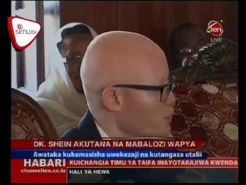Dr Shein Akutana Na Mabalozi Wapya