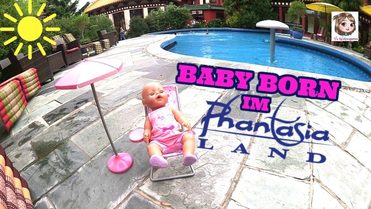 Baby Born Im Phantasialand Hannahs Puppe Am Pool Und Im