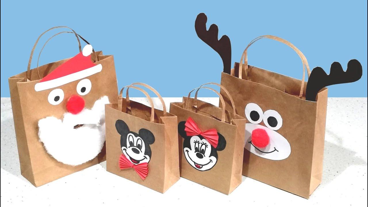 Como hacer bolsas de papel para regalo con papel kraft - Hacer bolsas de papel para regalo ...