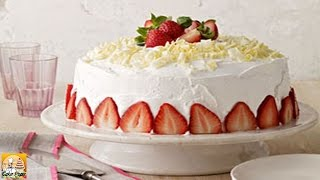 White Chocolate Strawberry Tres Leches Cake