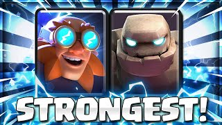 Clash Royale's MOST POWERFUL Card Combo EVER!.. GOLEM ELECTRO GIANT 😱