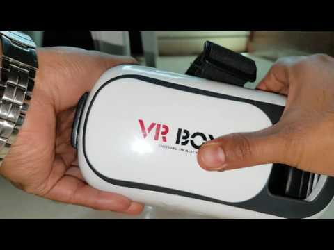 VR Box unboxed showing lens adjustable options.