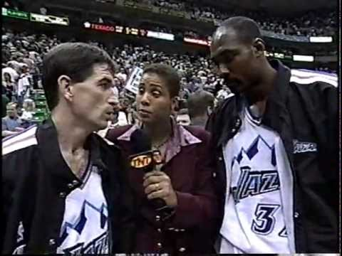 Trailblazers at Jazz - Game 5 - Conference Semifinals - 5/25/99 (Highlights)