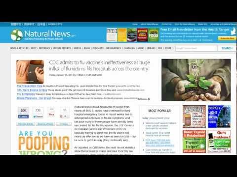 Flu Vaccine Statistics and NaturalNews