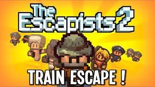 The Escapists 2 - Cougar Creek Train Escape!! - Escapists 2 Gameplay - Episode 14