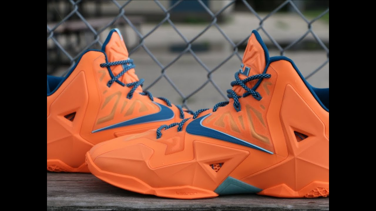 Nike LeBron 11 Atomic Orange - Detailed Review - YouTube