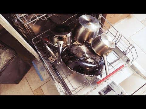Посудомоечная машина.КАСТРЮЛИ, СКОВОРОДЫ с нагаром. ОТМОЕТ или нет  - Senya Miro