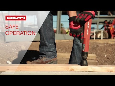 DEMO of proper techniques and tool features for the safe operation of Hilti powder-actuated systems