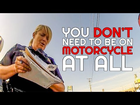 COP LADY MAKES RANDOM CLAIMS   POLICE vs MOTORCYCLE     [ Episode 133]