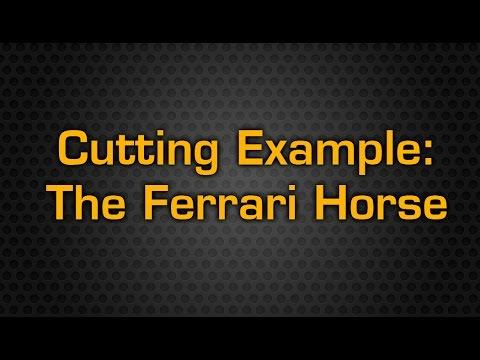 Mad Series Cnc Cutting Table Cutting The Ferrari Horse