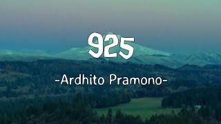 Ardhito Pramono - 925 (Lyrics)