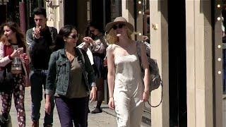 EXCLUSIVE - Elle Fanning and Mother walking in Paris