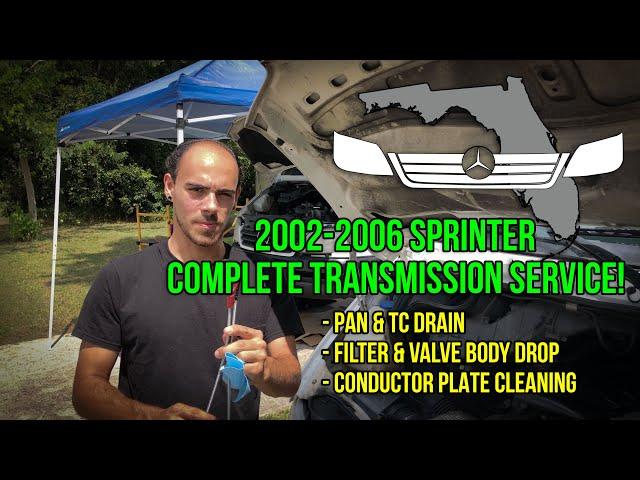 T1N Sprinter (2004-2006) Transmission Service + Valve Body Removal