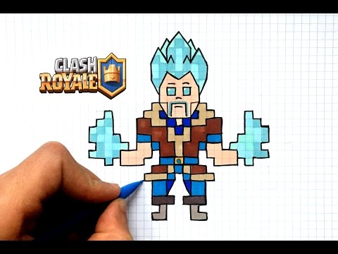 Dessin Sorcier De Glace Pixel Art Clash Royale Youtube