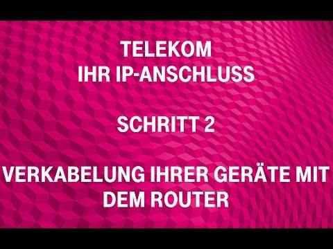 Telekom - Ihr IP-Anschluss (Schritt 2): Verkabelung Ihrer Geräte mit dem Router