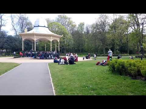 Live music in Exhibition Park, Newcastle