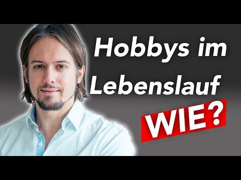 Hobbys Im Lebenslauf Youtube