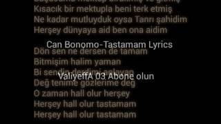 Can Bonomo-Tastamam Lyrics