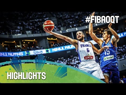 France v Philippines - Highlights - 2016 FIBA Olympic Qualifying Tournament - Philippines