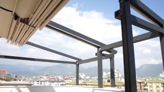 Автоматический тент для балкона и террасы   Alanyaglass.com