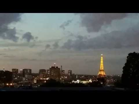 Romantic Paris: Evening Skyline in Spring, Timelapse