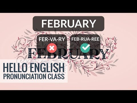 How To Say Names Of Months In English? Part 1 | Hello English Pronunciation Class 35