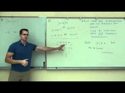 Intermediate Algebra Lecture 9.3:  Solving Absolute Value In