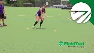 The Shuttle │ Passing Drill │ Field Hockey Training with Amy Cohen