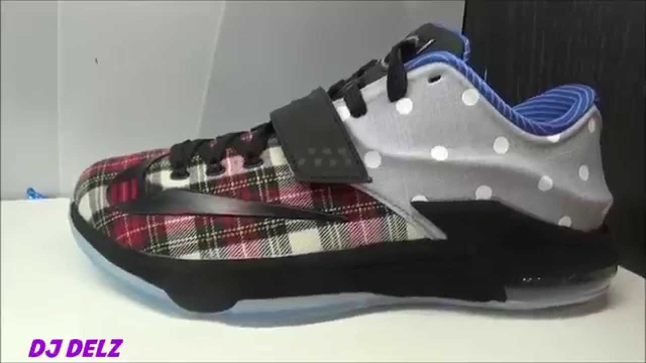 Nike KD 7 EXT Plaid   Polka Dots Sneaker Review - YouTube f2f152ef13