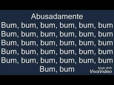 Abusada Mente.. Bum Bum.... with lyrics Abusada