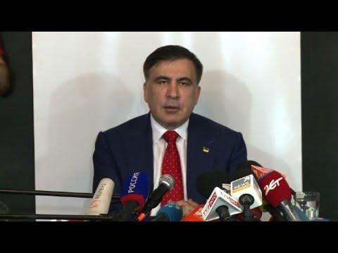 Georgia ex-leader Saakashvili vows to 'get back' to Ukraine