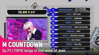 What are the TOP10 Songs in 2nd week of June? #엠카운트다운 EP.713
