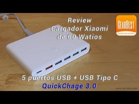 Review Cargador Rápido QC 3.0 De Xiaomi Con 5 Puertos USB + USB C